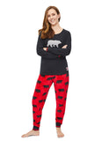 Womens 2-Piece PJ Set Bear