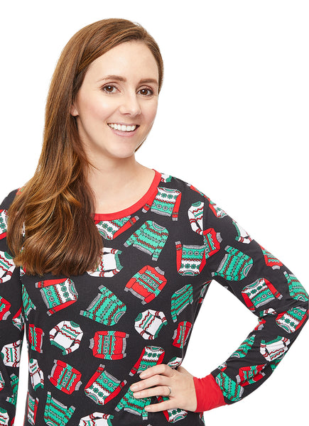 Christmas Matching Family Pajamas - Ugly Sweater Party - Womens 2-Piece PJ Set