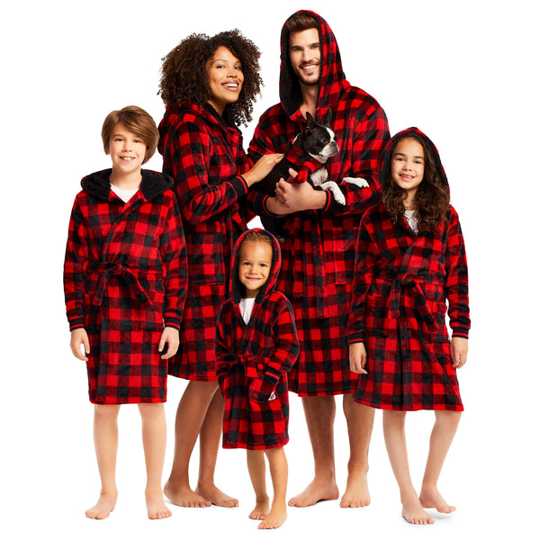 Christmas Matching Family Pajamas - Red Buffalo - Scarf - Pets
