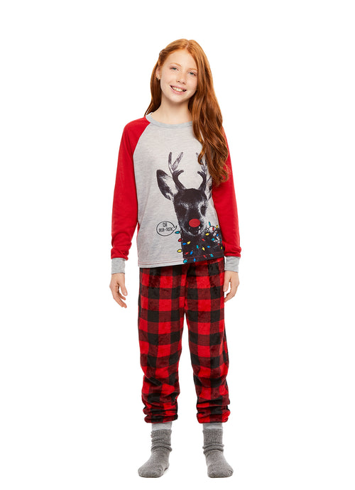 Girls 2-Piece Pajama Deer