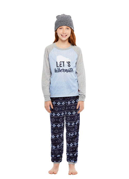 Girls 2-Piece Pajama Hibernate