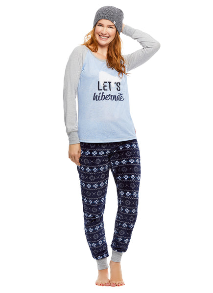 Family Let's Hibernate Matching Pajama Sets | Womens 2-Piece Pajama
