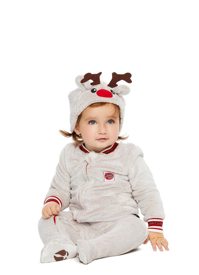 Family Santa's Sleigh Squad Matching Pajamas | Baby Reindeer Onesie