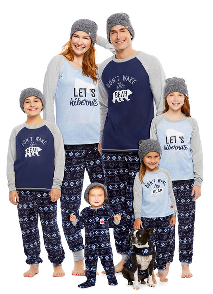 Family Let's Hibernate Matching Pajamas | Pets Coat