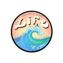 "Load image into Gallery viewer, ""Go Live your Life"" Kiss-Cut Sticker"