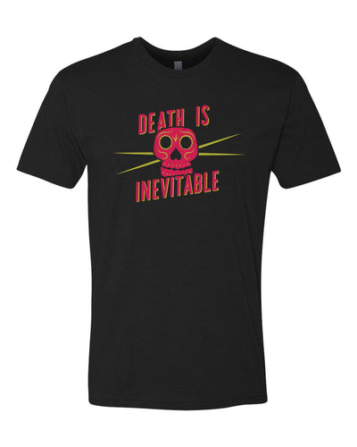"Claire's Words to Wear T-Shirts - ""Death is Inevitable"" Sugar Skull T-shirt"