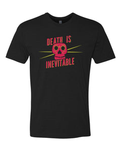 "Claire's Quotes Tshirt - ""Death is Inevitable"" Sugar Skull Tee"