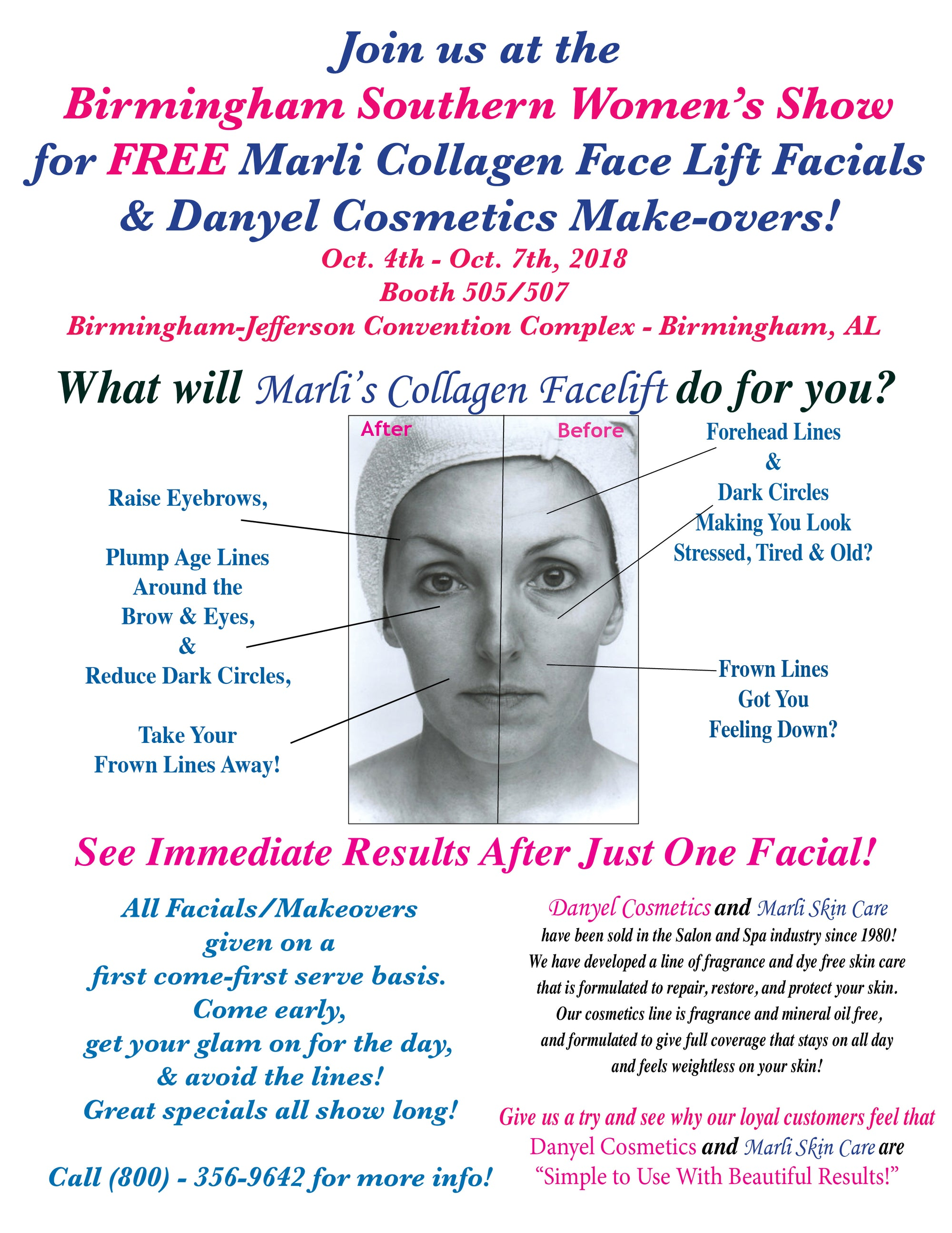 Free Collagen Facials & Makeovers At the Southern Women's Show in Birmingham!