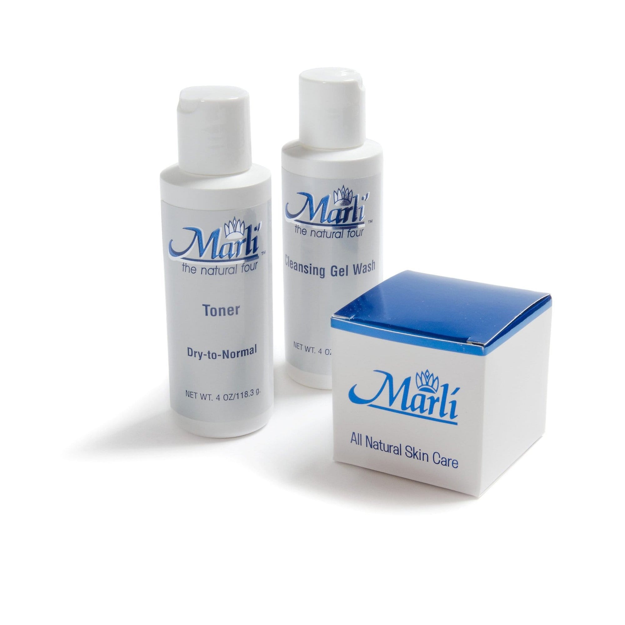 Marli Skin Care Skin Care Rapid Wrinkle Erase Marli Complete Skin Care Kit (With Rapid Wrinkle Erase Cream, Collagen Facial Cleanser Gel, & pH Balancing Toner)