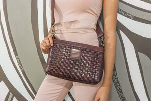 Pink Lucy Accessories Weaved Crossbody