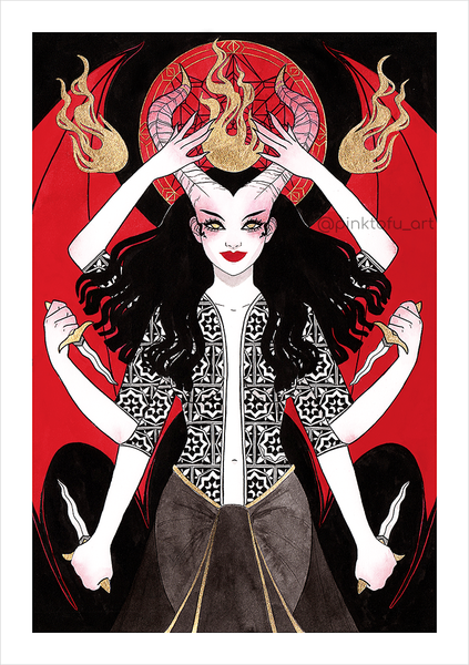 """The flame keeper""- Art print"