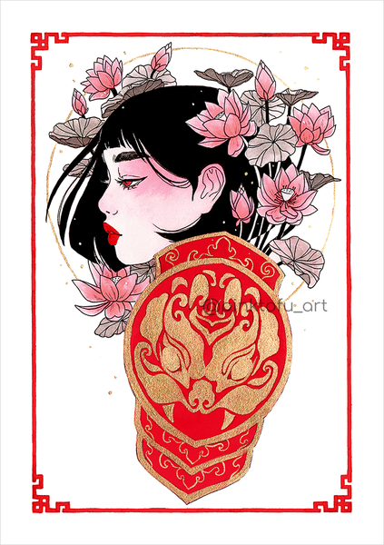 """Lotus knight""- Art print"