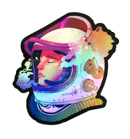 """Cosmonaut""- holographic sticker"