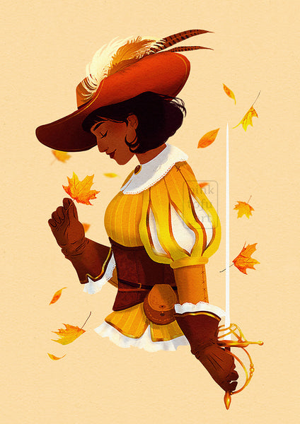 """Autumn Musketeer""- Art print"