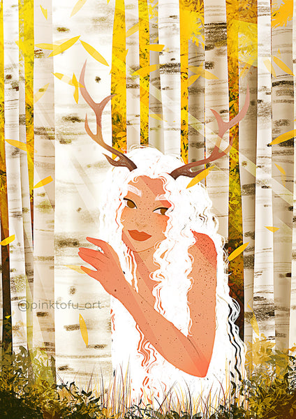 """FOREST NYMPH""- ART PRINT"