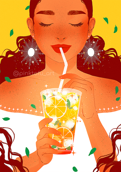 """Refreshment""- Art print"
