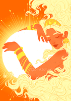 """Godess of the sun"" - Art print"