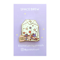 """Space brew"" -hard enamel pin"