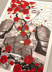 """Thorns and roses""- Special edition foiled print (Inktober 2019)"