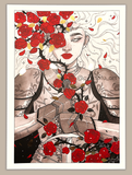 """Thorns and roses""- Special edition foiled print"