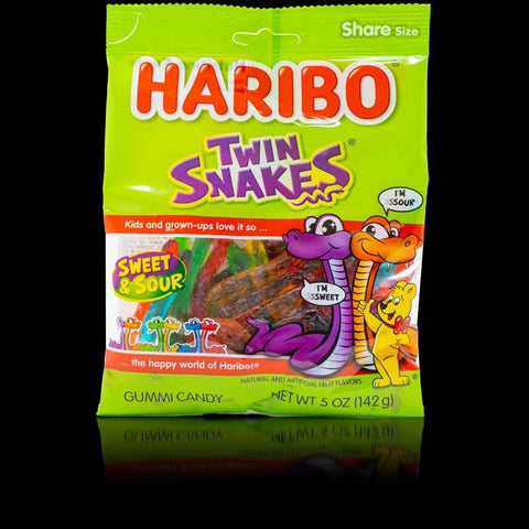 Haribo Sweet and Sour Twin Snakes 142g