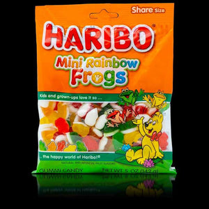 Haribo Mini Rainbow Frogs 5oz
