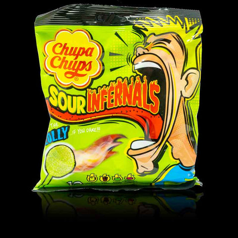 Chupa Chups Sour Infernals Lollies