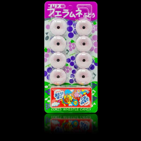 Fue Ramune Whistle Candy, Grape Flavour 22g