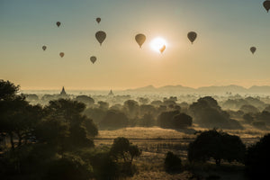 Sunrise over the planes of Bagan