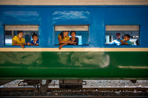Yangon by the circular train