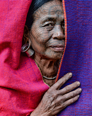 Tattooed-face women of Chin state