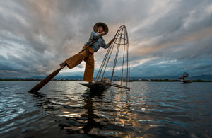 Balancing fishermen of Inle lake