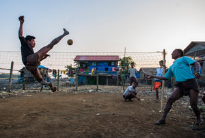 Sepak Takrow , a popular ball game in Myanmar