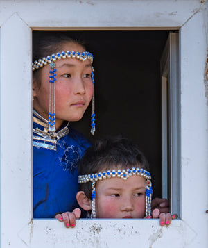 Children of the Tuvan tribe