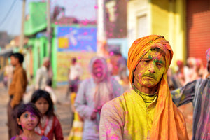 Holi yellow festival