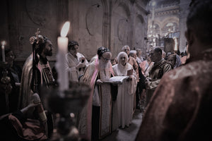 Holy fire ceremony at the church of holy sepulcher