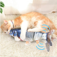 Electric Moving Fish Cat Toy, Realistic Plush Simulation Electric Wagging Fish Cat Toy Catnip Kicker Toys, Funny Interactive Pets Pillow Chew Bite Kick Supplies for Cat Kitten Kitty (Catfish)