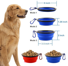 Collapsible Dog Bowl Set of 1/2/4 Pack - 12oz Large Food Grade Silicone Foldable Expandable Pop Up Cup Dish