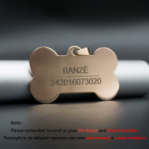 AveryDay™ Customized Dog ID Tags Metal Name Tags