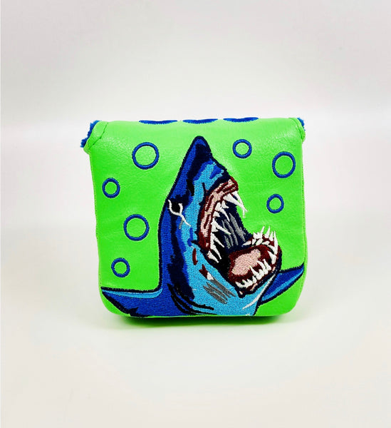 SSG Shark Week Lime Putter Cover - Mallet