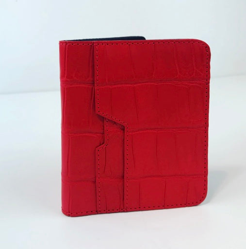 SSG Genuine Crocodile Cardholder Wallet - Red