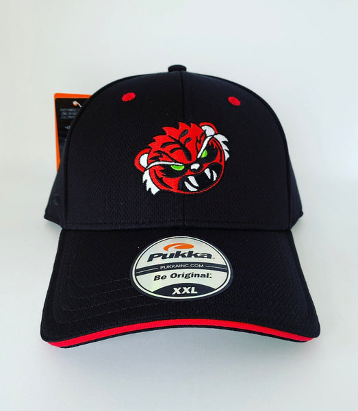 Sugar Skull Golf Angry Tiger Fitted Hat - Black XXL