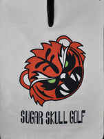 Microfiber Angry Tiger Waffle Towel in White 40 X 16 - *Limited Release*
