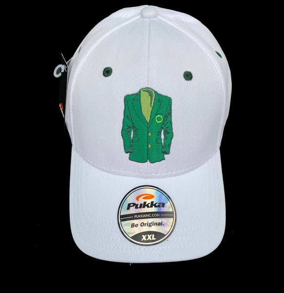 Sugar Skull Golf Masters Fitted Hat - White XXL