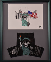 "Lady Liberty Warning PGA Cover and Drawing 16"" X 20"""