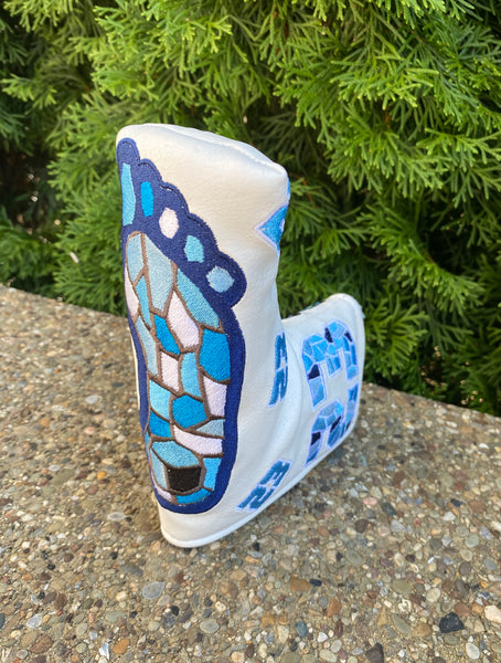 1/1 White MJ Tarheels Putter Cover - Blade