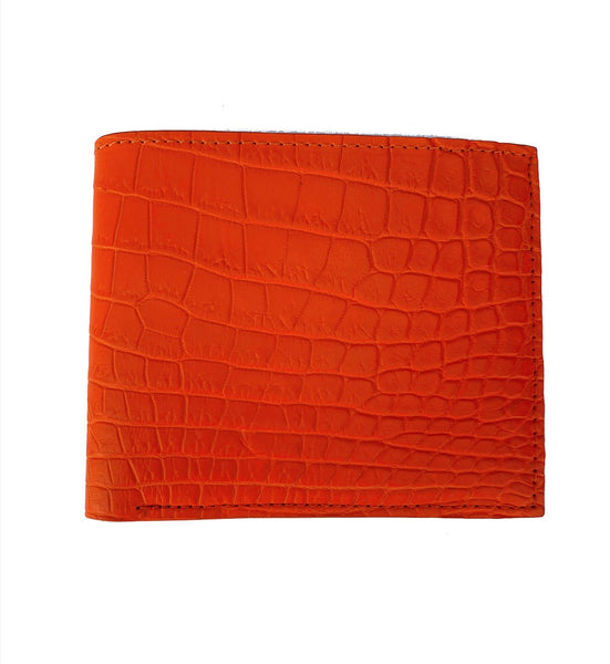 SSG Genuine Crocodile Wallet - Orange