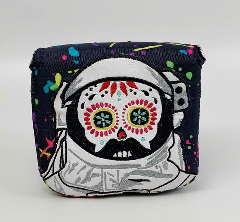 Sugar Skull Golf Astronaut Mallet Putter Headcover