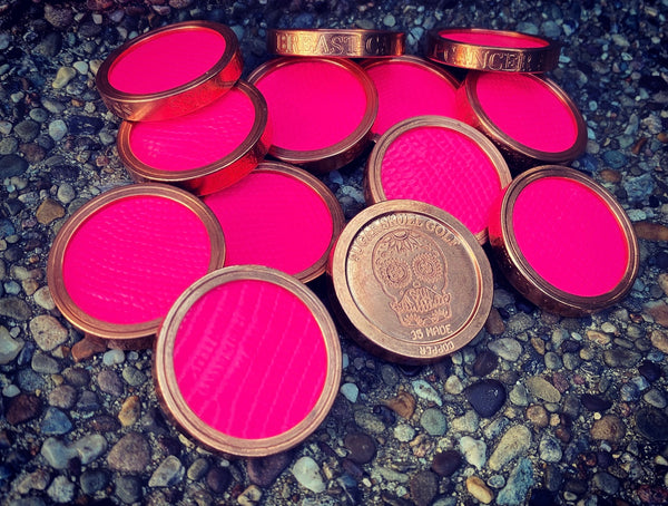 Copper/Pink Lizard Breast Cancer Awareness - Heavy Duty Ball Marker
