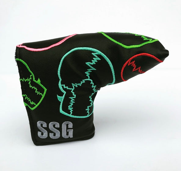Multicolor Skulls Black Blade Putter Headcover *New Style Stock*